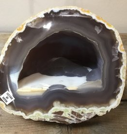 "Nature's Expression Agate ""Ice Cave"" Geode"