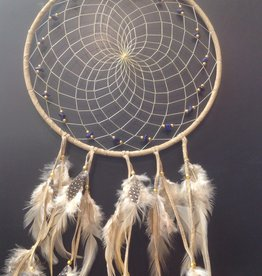"Monague Native Crafts Ltd. 9"" Tan Dreamcatcher Semi Precious Stones"