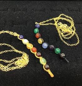 Impetus Jewellery Inc. Chakra Stone - thread set - brass chain