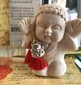 Dempsey Distributing Canada Gypsum Manekineko cat buddha 2.5""