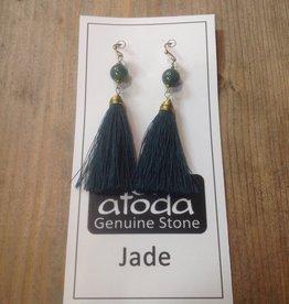Atoda Atoda Jade - Tassel earring