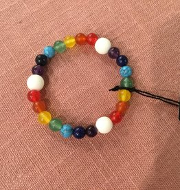 Atoda Atoda Triple Chakra White Agate Bracelet - child