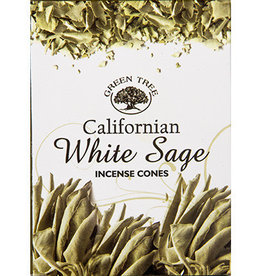 Kheops International Green Tree Incense White Sage Cones