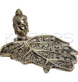 Kheops International Metal Incense Holder - Buddha on Leaf