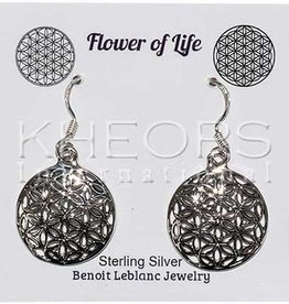 Bamiyan Silver Silver Flower of Life Earrings