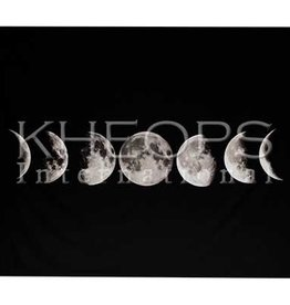 "Kheops International Cotton Tapestry 48""x50"" - Moon Phase"