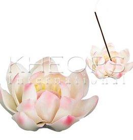 Kheops International Ceramic White Lotus Incense Holder