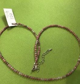 Atoda Rhodonite 3mm Bead Necklace