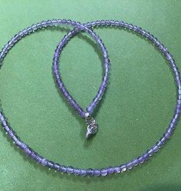 Atoda Amethyst 3mm Bead Necklace