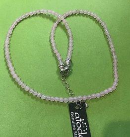 Atoda Rose Quartz 3mm Bead Necklace
