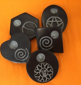 Kheops International Soapstone Incense Burner -assorted shapes & symbols