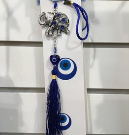 Kheops International Evil Eye Talisman Protection & lucky elephant & tassel