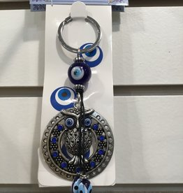 Kheops International Owl Evil Eye Keychain for protection
