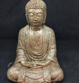 Creating Dharma Stone Buddha Statue - gold