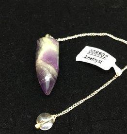 Crystal Earth Studio Chevron Amethyst Pendulum