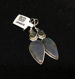 Crystal Earth Studio Goddess Earrings - Labradorite
