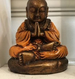 Desiree Designs Sitting Monk - orange resin - small