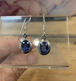 Harmony Mundi Kyanite Faceted Oval Earrings