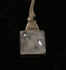 Bamiyan Silver Moonstone Square Silver Pendant