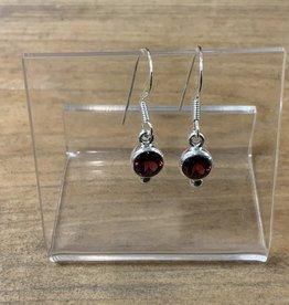 Harmony Mundi Faceted Garnet Earrings