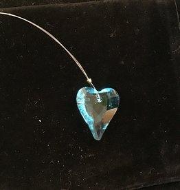 Crystal Peddler Window Crystal Aqua Heart