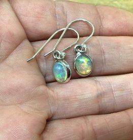 Harmony Mundi Opal Oval Silver Earring