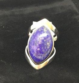 Crystal Earth Studio Open Band Ring - lapis lazuli