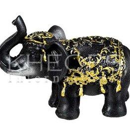 Kheops International Black Resin Elephant Statue 3.25inch