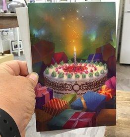 Amber Lotus Birthday Spell Card