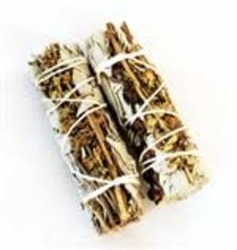 Crystal Peddler Small White Sage and Basil Wands