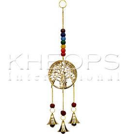 Kheops International Brass Bells Tree Chakras