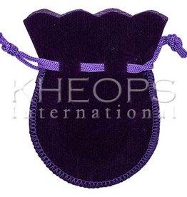 Kheops International Round Purple Velvet Bag