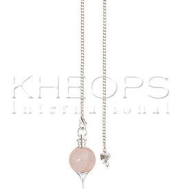 Kheops International Sephoroton Rose Quartz Pendulum