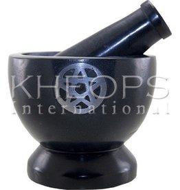 Kheops International Black Pentagram Mortar & Pestle