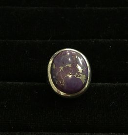 Saffron Fine Jewellery Ltd. Purple Turquoise Silver Ring