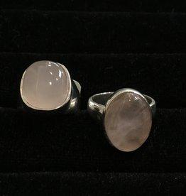 Saffron Fine Jewellery Ltd. Rose Quartz Silver Ring
