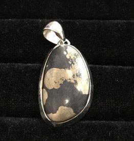 Harmony Mundi Gold Pyrite Silver Pendant
