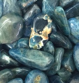 Nature's Expression Blue Apatite Tumbled Stone