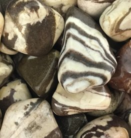 Village Originals Brown Zebra Jasper Rock Tumbled