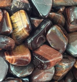 Nature's Expression Cherry (Red) Tiger -eye tumbled stone