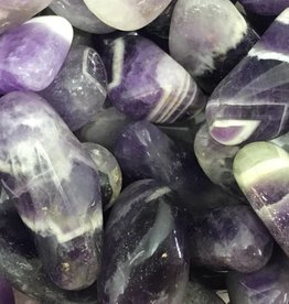 Nature's Expression Chevron Amethyst tumbled stone