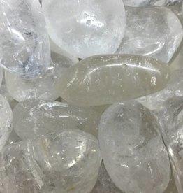 Family Rocks Clear Quartz Tumbled Stone - Large