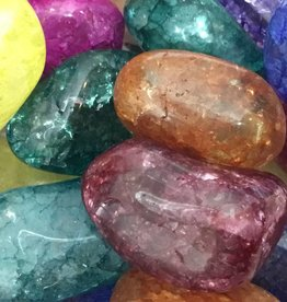 Nature's Expression Crackle Quartz Tumbled Stone