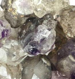 Family Rocks Elestial Quartz - Smoky Amethyst - Tumbled Stone