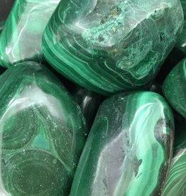 Village Originals Malachite tumbled stone