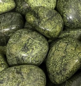Nature's Expression Green Snakeskin Jasper Tumbled Stone