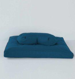 Halfmoon Halfmoon Sit Set - Round Meditation Cushion with Zabuton - Pacific Blue