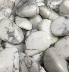 Friends and Gems White Howlite Tumbled Stone