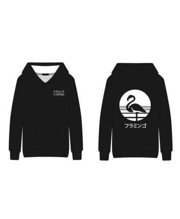 "Flamingo Vape Flamingo Hoodie ""White Japanese"""