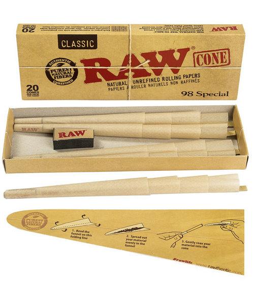 RAW Classic Cones '98 Special - 20 cones per pack